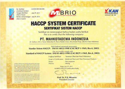 sertificat HACCP Jamsi diabetes