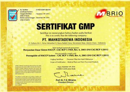 sertifikat GMP jamsi